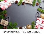 christmas background with... | Shutterstock . vector #1242582823
