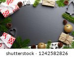 christmas background with... | Shutterstock . vector #1242582826