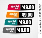 special offer design | Shutterstock .eps vector #124258336