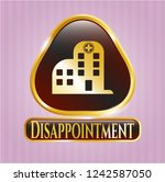 golden badge with hospital... | Shutterstock .eps vector #1242587050