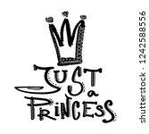 just princess. girlish...   Shutterstock .eps vector #1242588556