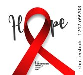 vector of world aids day symbol.... | Shutterstock .eps vector #1242599203