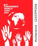 vector of world aids day symbol.... | Shutterstock .eps vector #1242599206