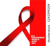 vector of world aids day symbol.... | Shutterstock .eps vector #1242599209