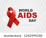 vector of world aids day symbol.... | Shutterstock .eps vector #1242599230