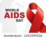 vector of world aids day symbol.... | Shutterstock .eps vector #1242599236