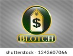 gold badge or emblem with... | Shutterstock .eps vector #1242607066