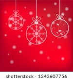 merry christmas and happy new...   Shutterstock .eps vector #1242607756