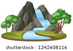 Isolated Water Fall Landscape...