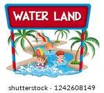 children at the water land... | Shutterstock .eps vector #1242608149