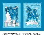 merry christmas greeting... | Shutterstock .eps vector #1242609769