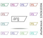 org domain icon. elements of... | Shutterstock .eps vector #1242610336