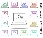 java notebook icon. elements of ... | Shutterstock .eps vector #1242610360