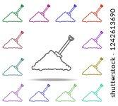 handful of sand shovel concept... | Shutterstock .eps vector #1242613690