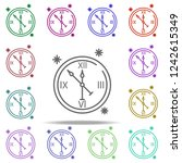 clock snow concept line icon.... | Shutterstock .eps vector #1242615349