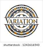 variation arabesque emblem... | Shutterstock .eps vector #1242616543