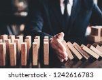 business risk control concept ... | Shutterstock . vector #1242616783