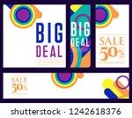 trendy flat geometric vector... | Shutterstock .eps vector #1242618376