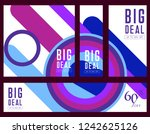 sale template banner in bright... | Shutterstock .eps vector #1242625126