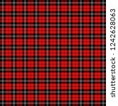 christmas and new year tartan... | Shutterstock .eps vector #1242628063