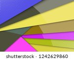 modern style abstraction with... | Shutterstock .eps vector #1242629860