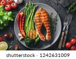 Tasty And Healthy Salmon Steak...