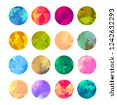 set of circle abstract... | Shutterstock .eps vector #1242632293