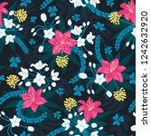 beautiful repeating pattern.... | Shutterstock .eps vector #1242632920