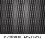 gray hexagon wire mesh... | Shutterstock .eps vector #1242641983