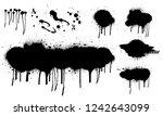 spray graffiti stencil template....   Shutterstock .eps vector #1242643099