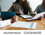close up of business people... | Shutterstock . vector #1242646630