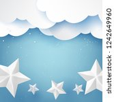 stars clouds and sky on winter...   Shutterstock .eps vector #1242649960