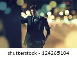 portrait of attractive man with ... | Shutterstock . vector #124265104