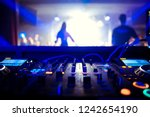 dj turntable console mixer... | Shutterstock . vector #1242654190