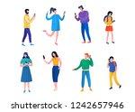 men  women  teenagers use... | Shutterstock .eps vector #1242657946