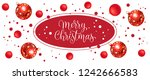 merry christmas lettering in... | Shutterstock .eps vector #1242666583
