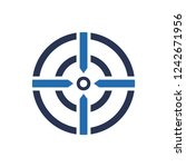 simple illustration of target... | Shutterstock .eps vector #1242671956