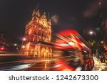 motion speed london  bus on... | Shutterstock . vector #1242673300