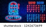 casino is a neon sign. neon... | Shutterstock .eps vector #1242673699