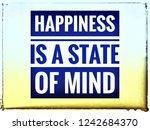 typographic poster happiness is ... | Shutterstock . vector #1242684370