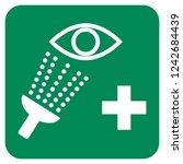 emergency eye wash vector sign | Shutterstock .eps vector #1242684439