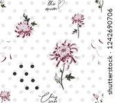 chrysanthemum pattern. vintage...   Shutterstock .eps vector #1242690706