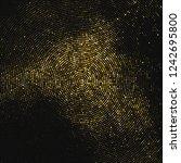 gold glitter halftone dotted... | Shutterstock .eps vector #1242695800