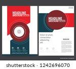 abstract vector modern flyers... | Shutterstock .eps vector #1242696070
