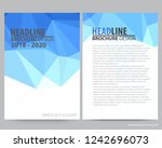 abstract vector modern flyers... | Shutterstock .eps vector #1242696073
