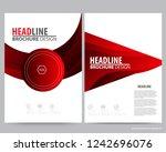 abstract vector modern flyers... | Shutterstock .eps vector #1242696076