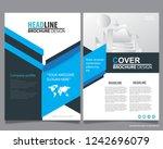 abstract vector modern flyers... | Shutterstock .eps vector #1242696079