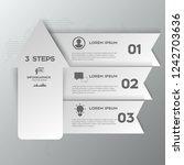modern arrow infographics... | Shutterstock .eps vector #1242703636