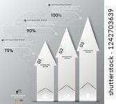 white modern infographic arrows.... | Shutterstock .eps vector #1242703639