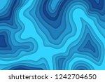 papercut multi layers 3d color... | Shutterstock .eps vector #1242704650